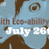 2nd Annual Engaging with Eco-Ability Conference Schedule