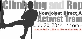 Today Activist Climbing and Rope Training in Saint Paul, MN, USA