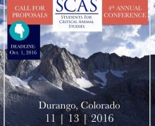5th Annual Students for Critical Animal Studies Conference, 2016