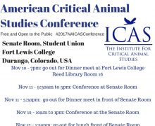 2017 16th Annual North American Conference for Critical Animal Studies