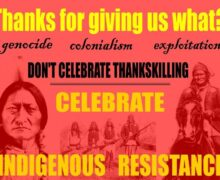 Top 5 reasons to NOT celebrate Thanksgiving, November 2020