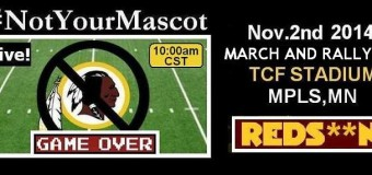 NotYourMascot Rally Nov 2
